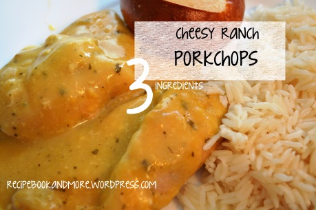 Cheesy Ranch Porkchops - slow cooker with just 3 ingredients!